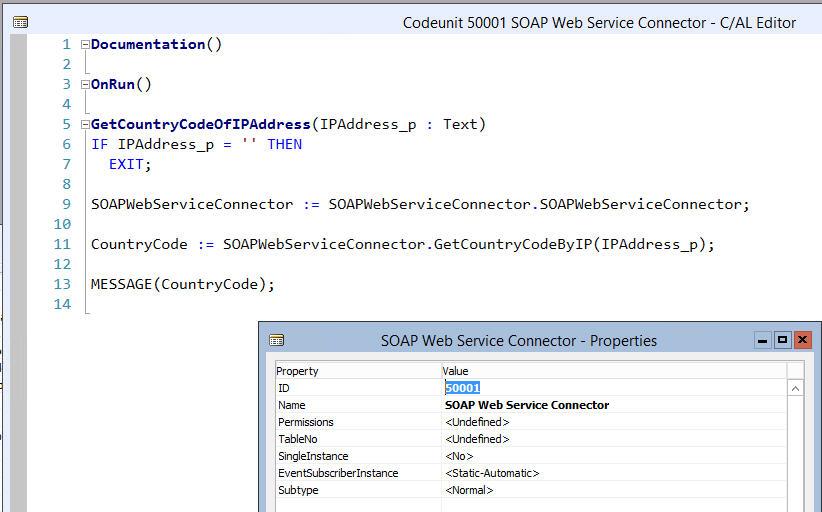 Web Services - 15 Codeunit Eigenschaften