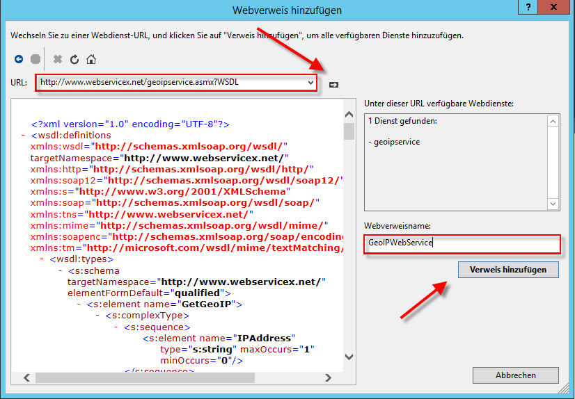 Web Services - 7 Dienstverweis hinzufügen_4